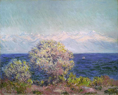 Monet Painting - Cap D'antibes, Mistral by Claude Monet
