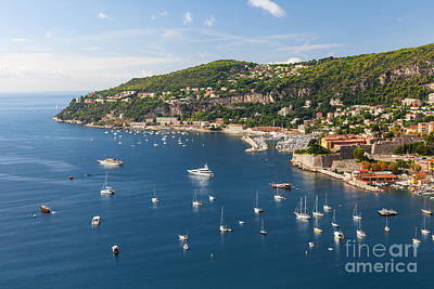 Cap De Nice And Villefranche-sur-mer On French Riviera Print by Elena Elisseeva