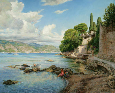 Painting - Cap-ferrat. French Riviera. by Serguei Zlenko