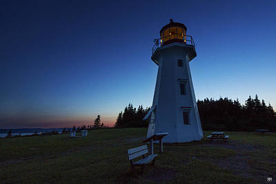 Photograph - Cap Gaspe Lighthouse At Sunset by John Meader