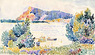 Pointillist Drawing - Cap Negre by Henri-Edmond Cross
