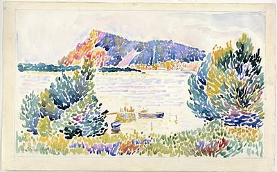 Seacape Painting -  Cap Negre Seacape by Henri-Edmond Cross