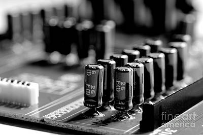 Photograph - Capacitors All In A Row by Mike Eingle