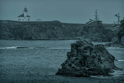 Photograph - Cape Arago Light by Thomas Gaitley