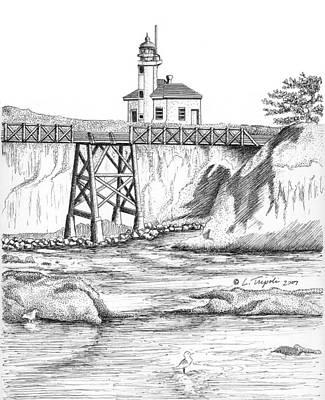 Cape Arago Lighthouse Art Print by Lawrence Tripoli