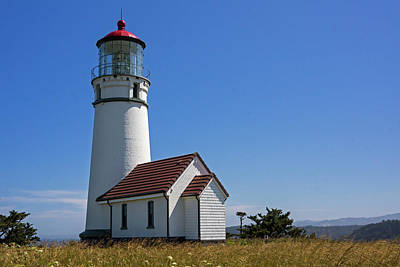Photograph - Cape Blanco Lighthouse H by Inge Riis McDonald