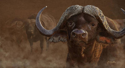 Painting - Cape Buffalo by Kathie Miller