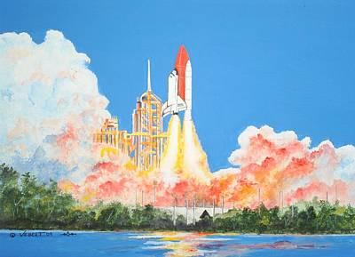 Cape Canaveral Art Print by Dennis Vebert