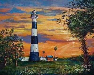 Cape Florida Lighthouse Painting - Cape Canaveral Light by AnnaJo Vahle