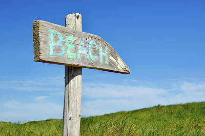 Photograph - Cape Cod Beach Sign by Luke Moore