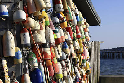 Buoys Photograph - Cape Cod Buoys by Dapixara Art