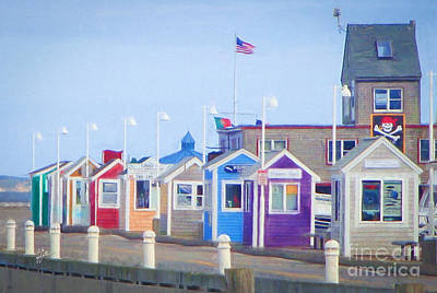 Cape Cod Cabins Art Print