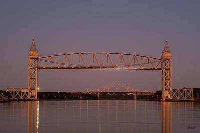Photograph - Cape Cod Canal Bridges II Color by David Gordon