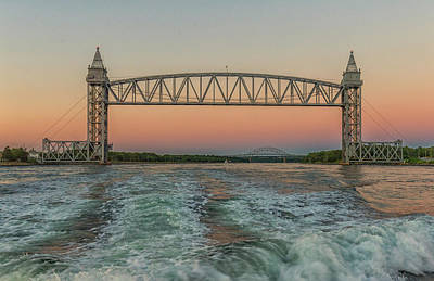 Photograph - Cape Cod Canal Railroad Bridge Sunset by Brian MacLean
