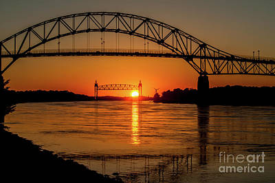 Cape Cod Canal Sunset Art Print