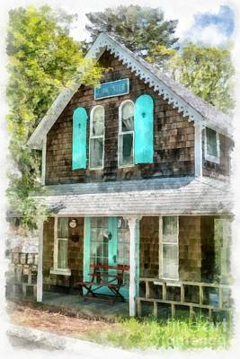 Photograph - Cape Cod Cottage Cba by Edward Fielding
