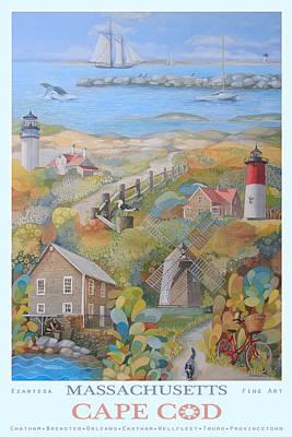 Cape Cod Art Print by Ezartesa Art
