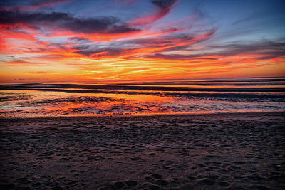 Photograph - Cape Cod Fall Sunset by Dave Files