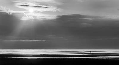 Photograph - Cape Cod First Encounter Beach Bw by Bill Wakeley