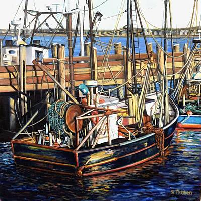 Painting - Fishing Boats by Eileen Patten Oliver