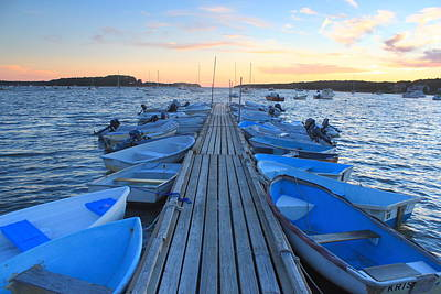 Cape Cod Harbor Boats Art Print