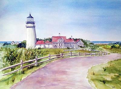 Painting - Cape Cod Highland Lighthouse by Clara Sue Beym