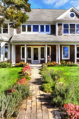 Cape Cod Photograph - Cape Cod Home by Edward Fielding