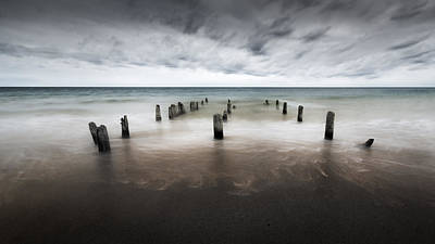Jetty Photograph - Cape Cod Into The Sea by Bill Wakeley