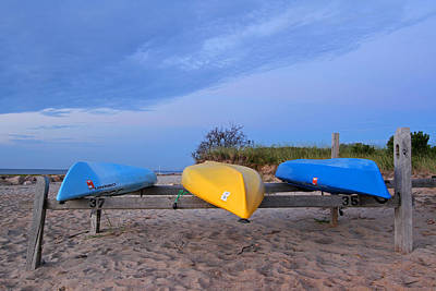 Photograph - Cape Cod Kayaks by Juergen Roth