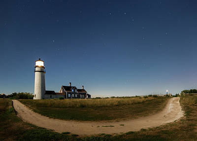 Photograph - Cape Cod Light Starry Night by Bill Wakeley