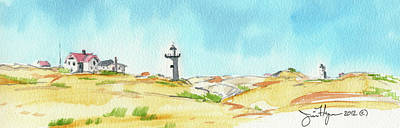 New England Lighthouse Painting - Cape Cod Lighthouse by James Flynn