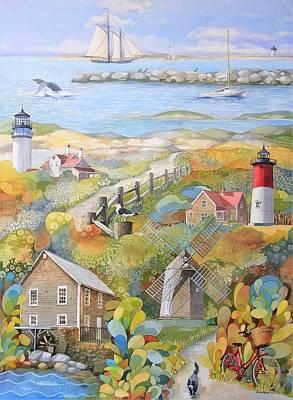 Cape Cod Painting - Cape Cod Painting by Ezartesa Art