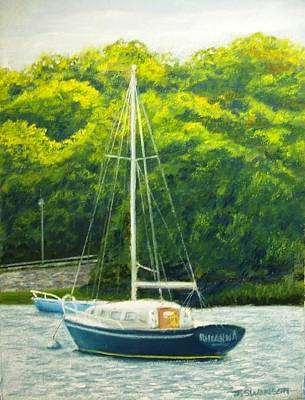 Cape Cod Sailboat Art Print by Joan Swanson