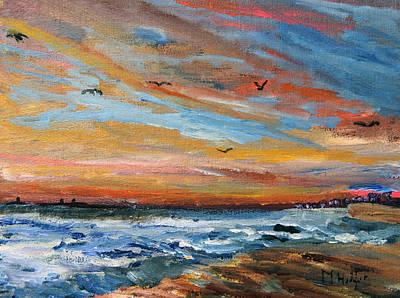 Cape Cod Sunrise Art Print by Michael Helfen