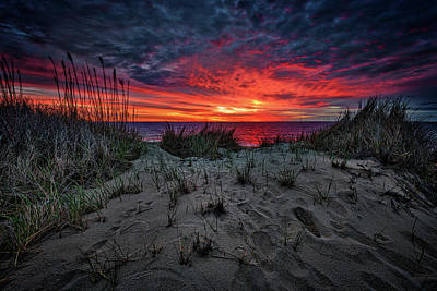 Coast Guard Photograph - Cape Cod Sunrise by Rick Berk