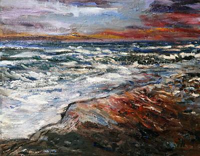 Cape Cod Sunset 1 Art Print by Michael Helfen