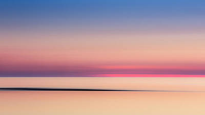 Abstract Seascape Photograph - Cape Cod Sunset Colors by Bill Wakeley