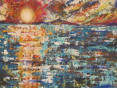 Painting - Cape Cod Sunset by Jacqui Hawk