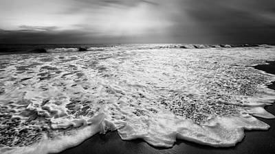 Cape Cod Surf Bw Print by Bill Wakeley