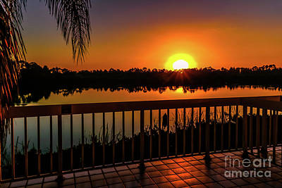 Ocean Photograph - Cape Coral Christmas Sunrise by Claudia M Photography