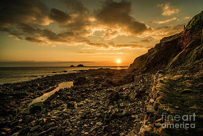 Cape Cornwall Dusk  Print by Rob Hawkins