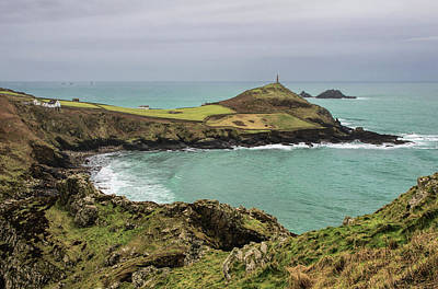 Photograph - Cape Cornwall From Kenidjack Castle by Pete Hemington