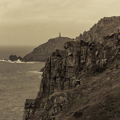 Photograph - Cape Cornwall - Square by Kathryn Bell