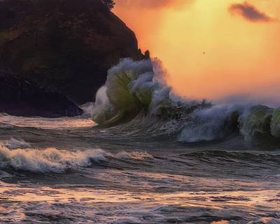 Photograph - Cape Disappointment 4 by Thomas Hall