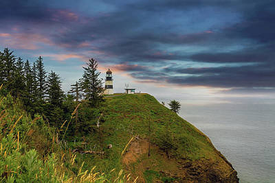 United States Photograph - Cape Disappointment After Sunset by David Gn
