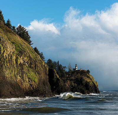 Photograph - Cape Disappointment And Clouds by Robert Potts