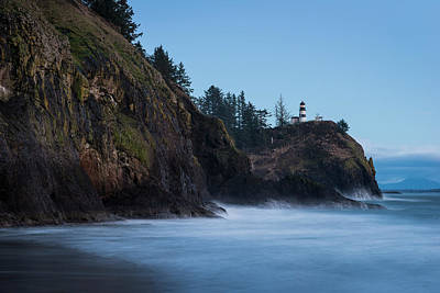 Photograph - Cape Disappointment At Dusk by Robert Potts