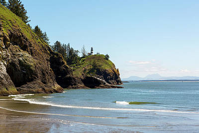 Landscapes Royalty-Free and Rights-Managed Images - Cape Disappointment Lighthouse by Waikiki Beach by Jit Lim