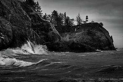 Photograph - Cape Disappointment Lighthouse by Cassius Johnson