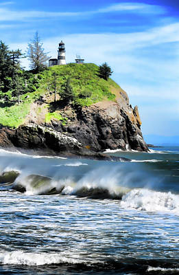 Photograph - Cape Disappointment Lighthouse II by Athena Mckinzie